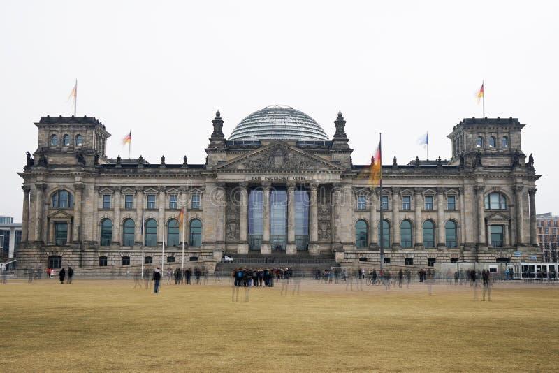 Costruzione federale tedesca del Parlamento di Bundestag in Berlin Germany fotografia stock libera da diritti