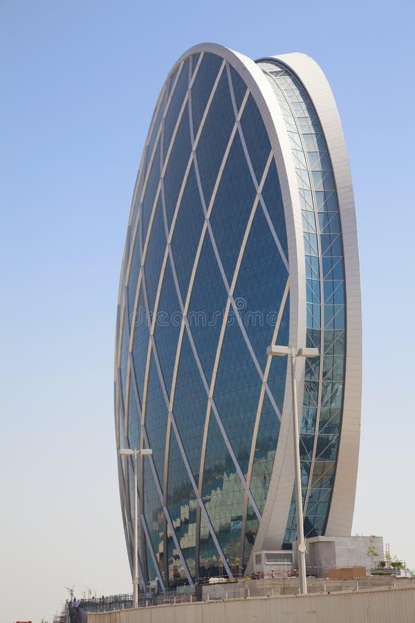 Costruzione a forma di del piattino, Abu Dhabi, UAE fotografia stock
