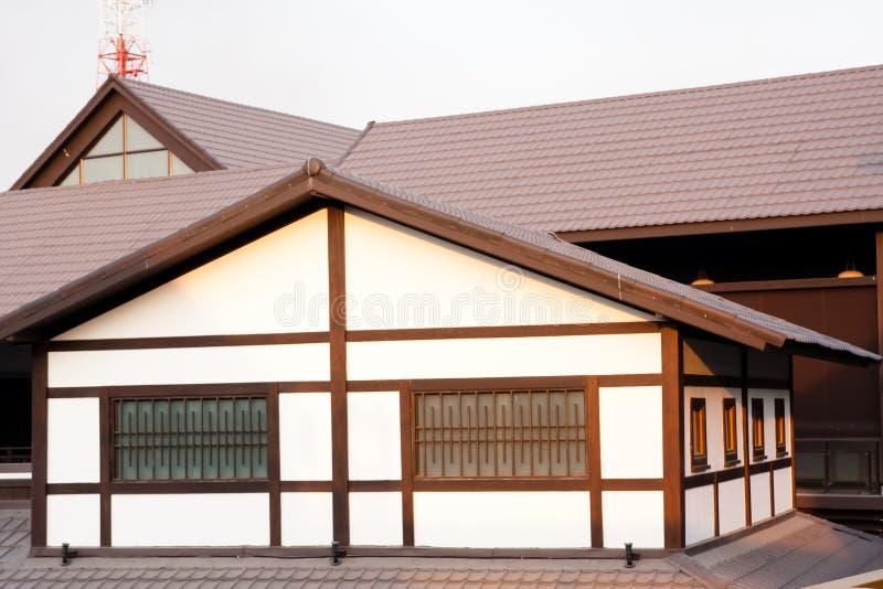 Costruzione giapponese di architettura locale di religione fotografia stock