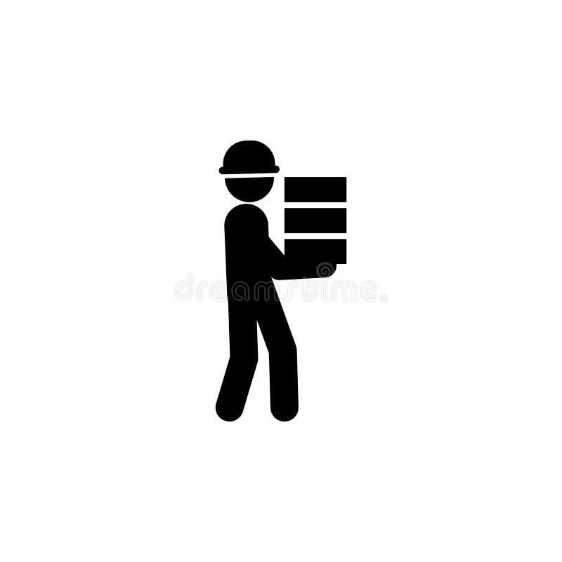 costruzione, icona del lavoratore di mattoni Elemento del muratore per i apps mobili di web e di concetto Costruzione dettagliata illustrazione vettoriale