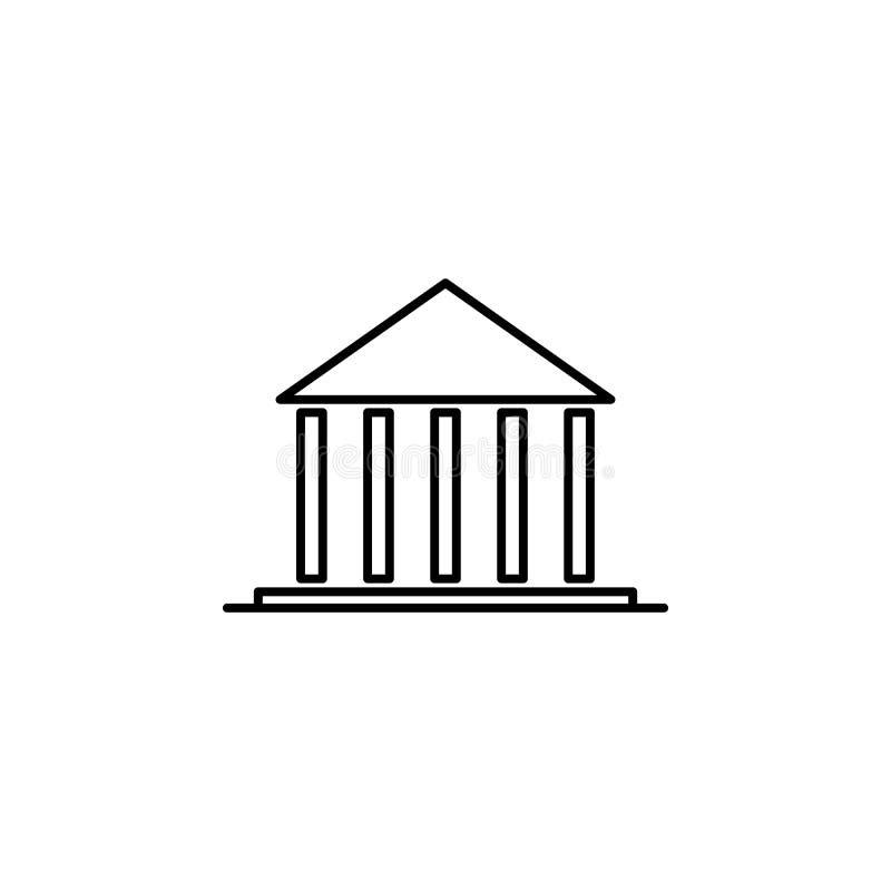 Costruzione, icona della corte Elemento di costruzione per lo iicon mobile dei apps di web e di concetto Linea sottile icona per  royalty illustrazione gratis