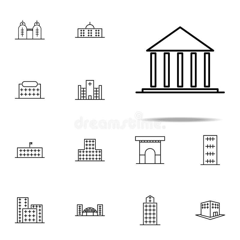 Costruzione, icona della corte Insieme universale delle icone della costruzione per il web ed il cellulare illustrazione di stock