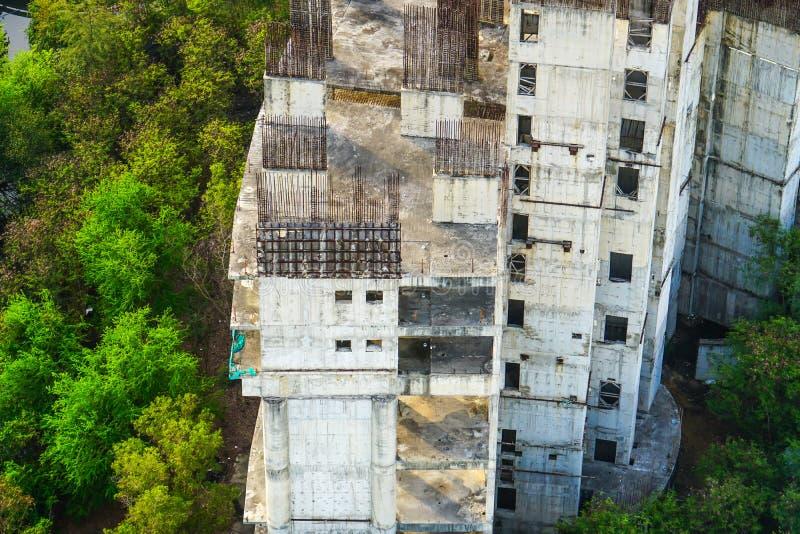 Costruzione incompleta abbandonata della costruzione fotografia stock
