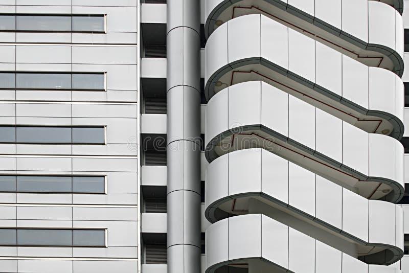 Costruzione industriale esterna architettonica della fabbrica fotografie stock