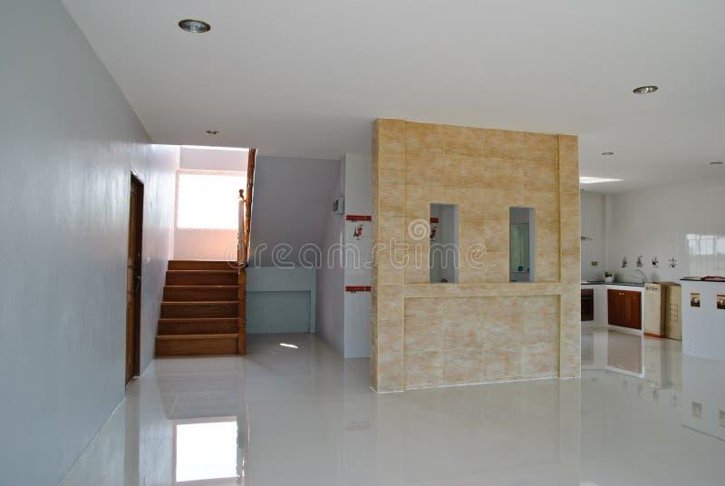 Costruzione interna nella nuova casa. fotografia stock
