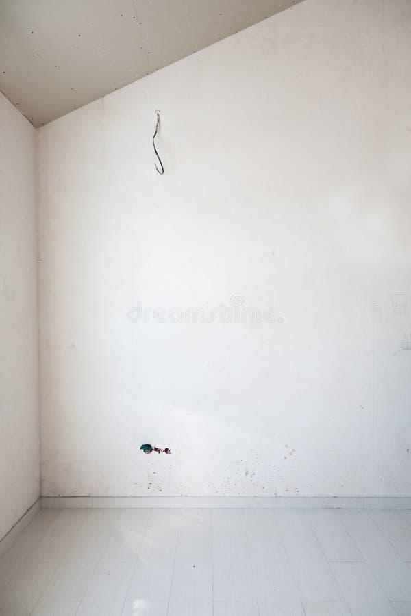 Costruzione interna non finita del muro a secco fotografia stock libera da diritti