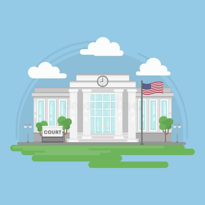 Costruzione isolata della corte illustrazione vettoriale