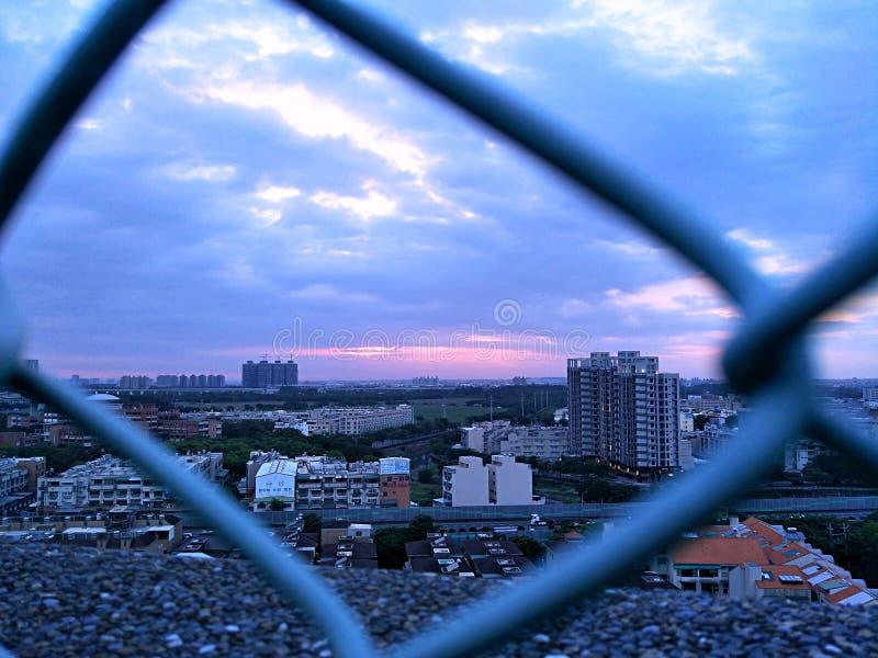 Costruzione Kaohsiung della nuvola immagine stock