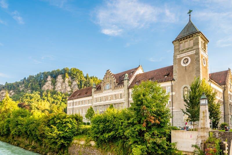 Costruzione Landesgericht in Feldkirch fotografia stock libera da diritti