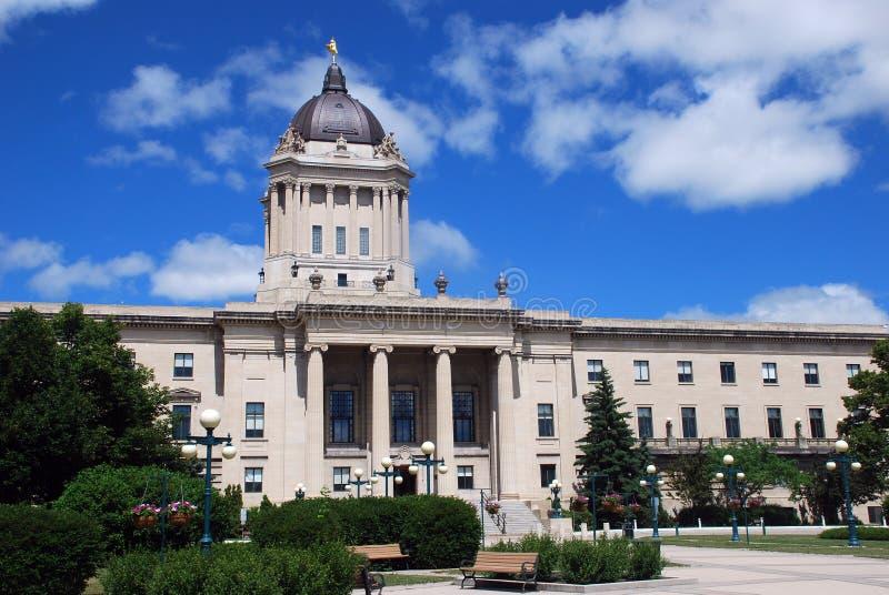 Costruzione legislativa di Manitoba fotografia stock libera da diritti