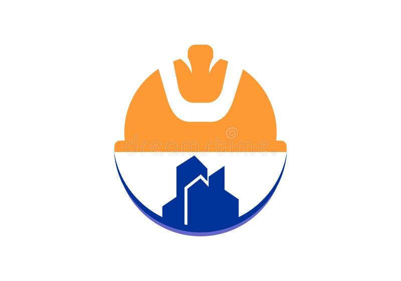 Costruzione, logo di industria illustrazione vettoriale