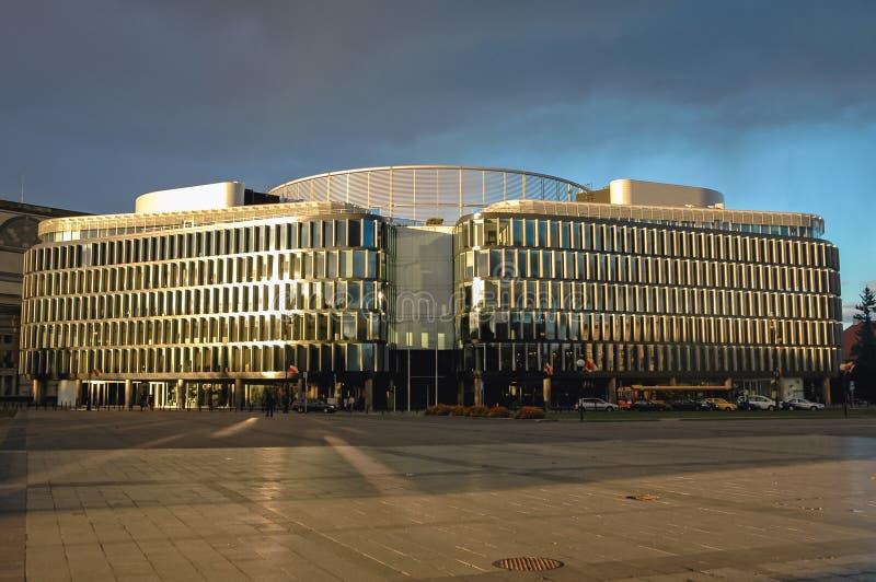 Costruzione metropolitana a Varsavia immagine stock