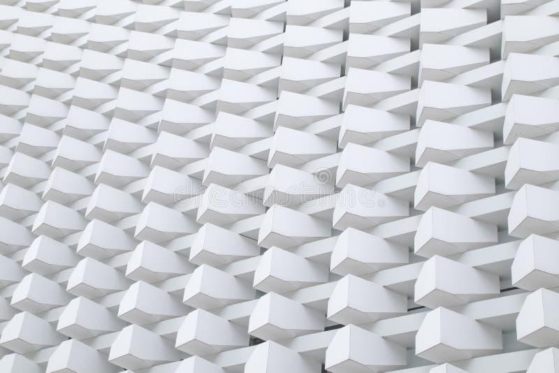 Costruzione moderna del modello della struttura del tessuto della scatola del dettaglio di architettura fotografia stock libera da diritti
