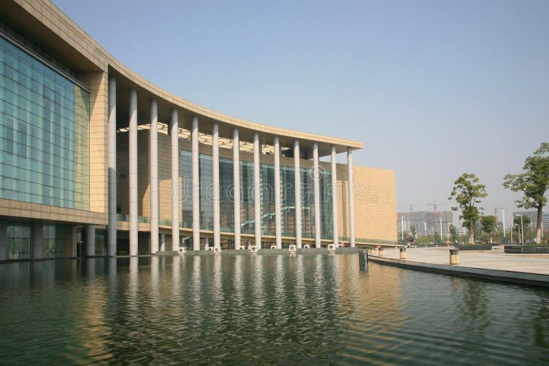 Costruzione moderna del museo immagine stock libera da diritti