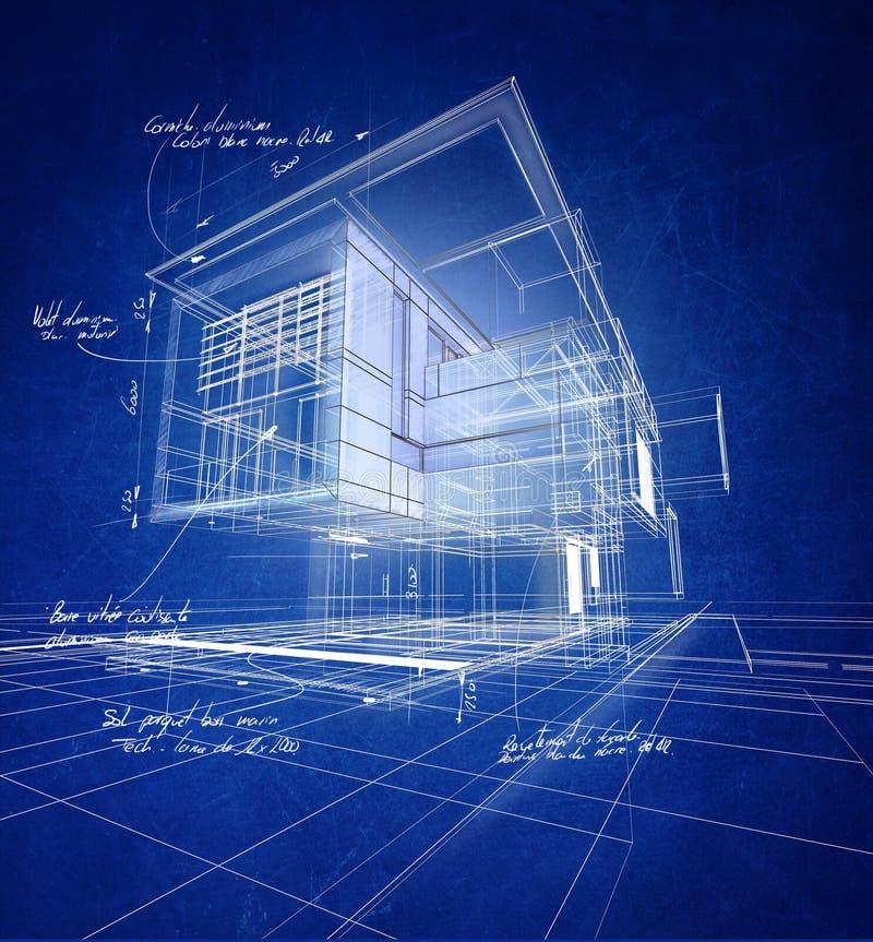 Costruzione moderna di Wireframe illustrazione vettoriale
