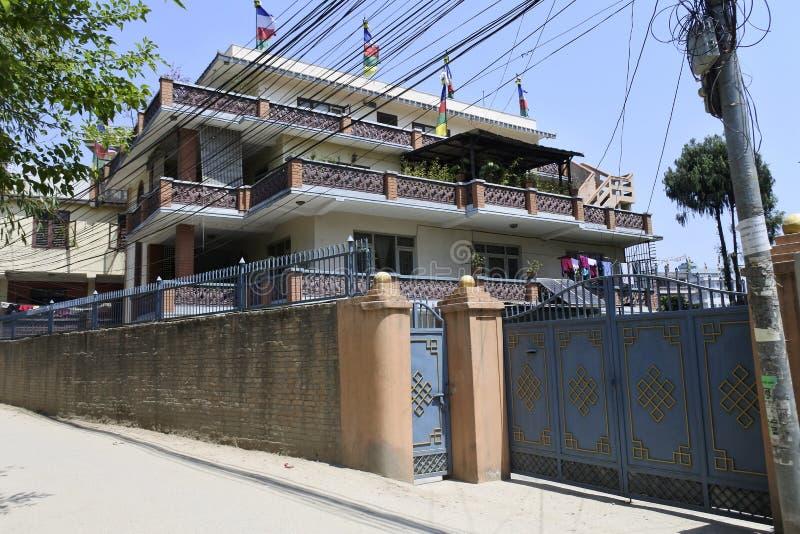 Costruzione moderna a Kathmandu, Nepal fotografia stock libera da diritti