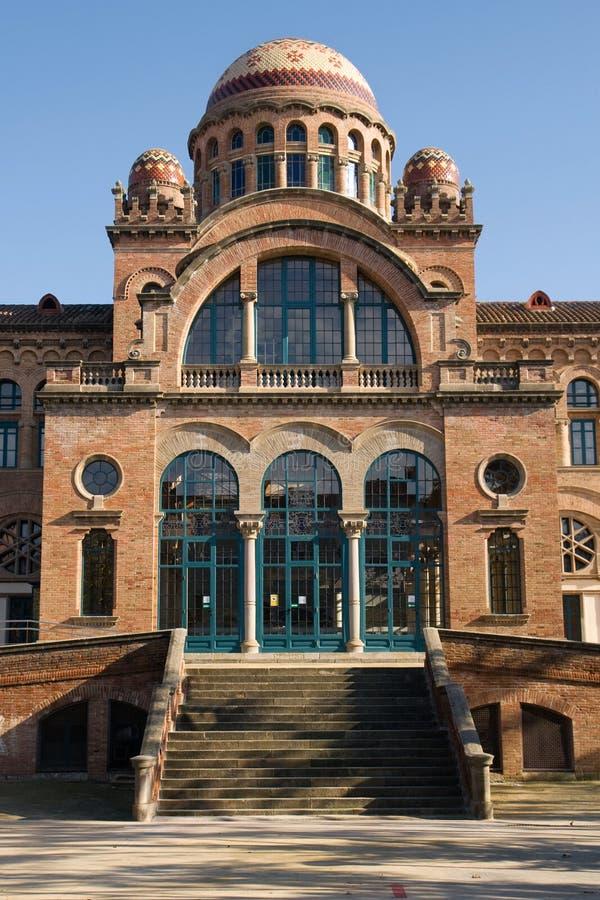 Costruzione modernista a Barcellona fotografia stock