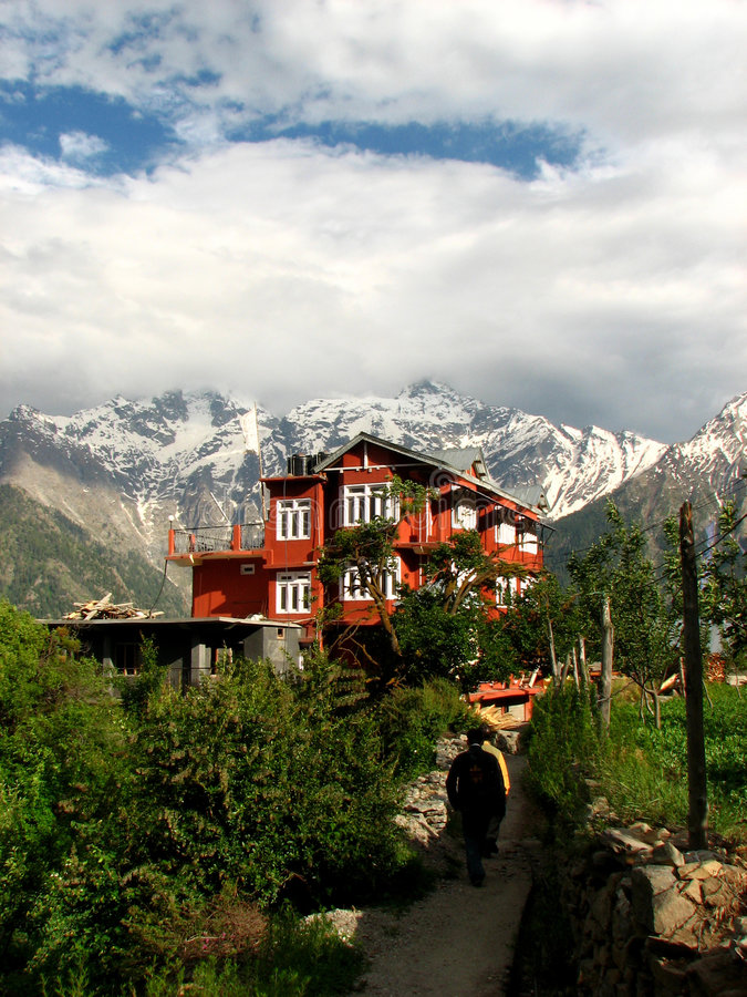 Costruzione in montagne indiane immagini stock libere da diritti