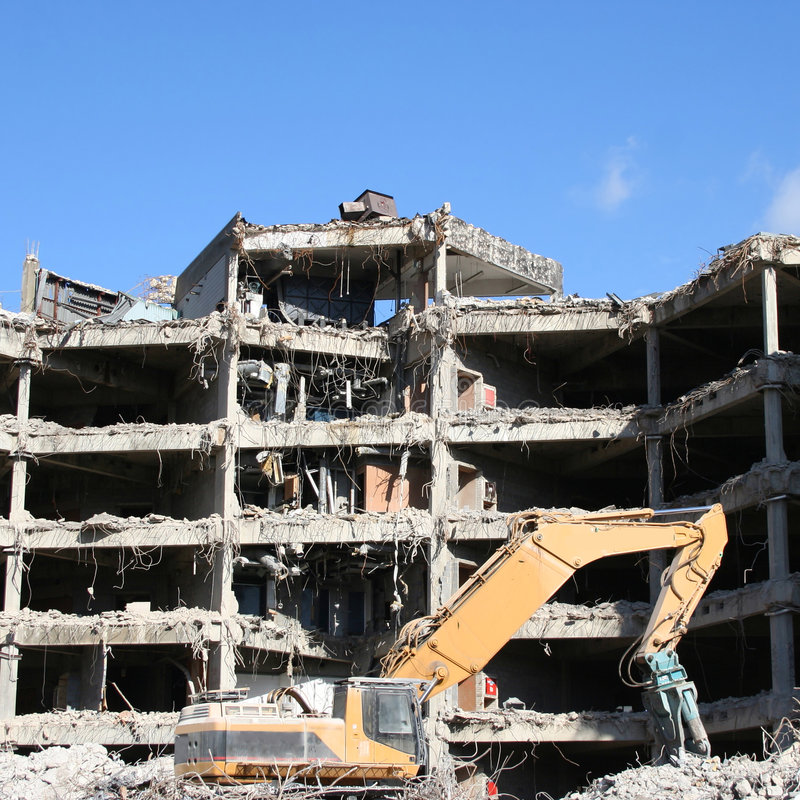 Download Costruzione Nell'ambito Della Demolizione Fotografia Stock - Immagine di pesante, rubble: 3891258