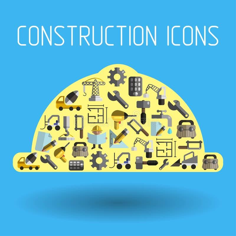 Costruzione 2 piani illustrazione vettoriale for Costruttore di piani di costruzione