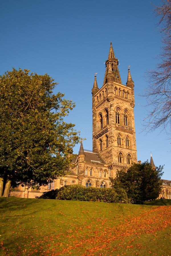 Costruzione principale dell'università di Glasgow fotografia stock libera da diritti