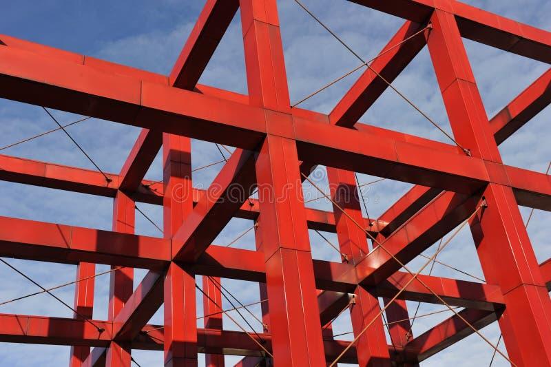 Costruzione rossa del ferro immagine stock libera da diritti