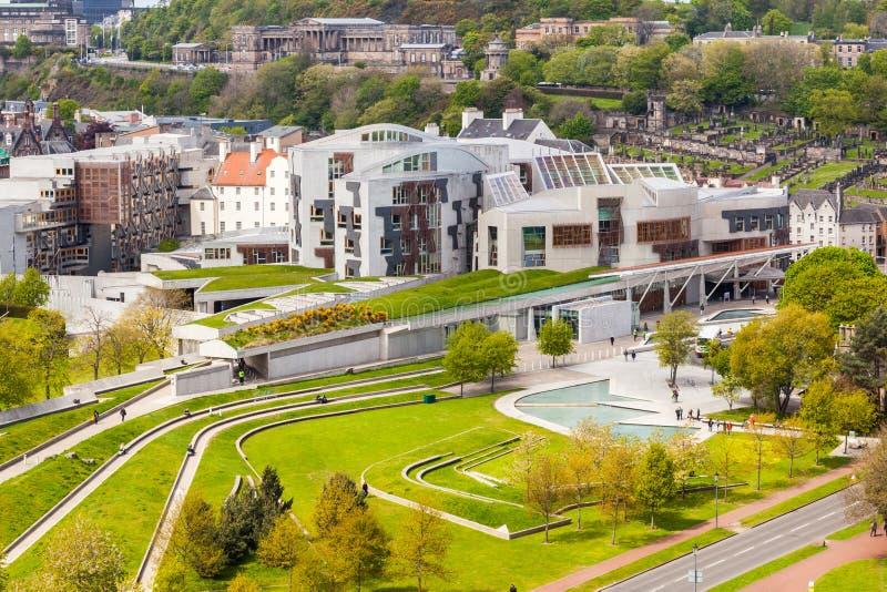 Costruzione scozzese del Parlamento, Edinburgh, Scozia fotografia stock