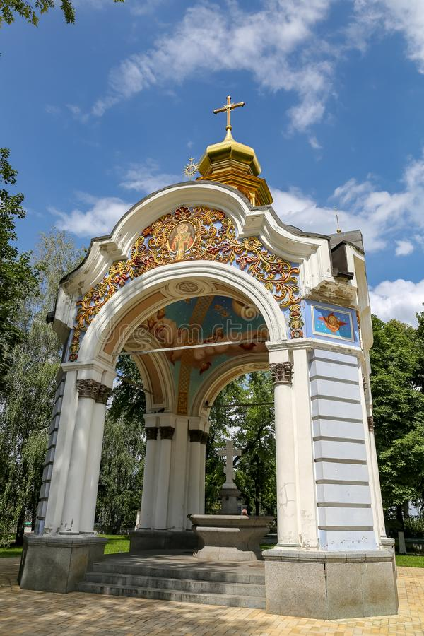 Costruzione in st Michaels Golden Domed Monastery, Kiev, Ucraina immagini stock