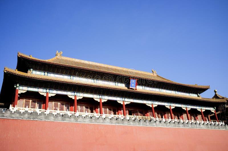 Costruzione storica dentro la piazza Tiananmen fotografia stock