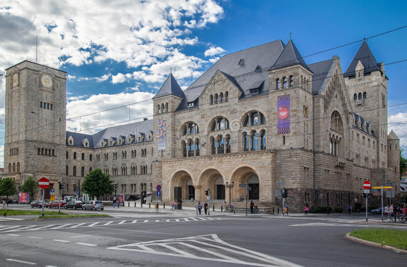 Costruzione storica di Poznan fotografie stock libere da diritti