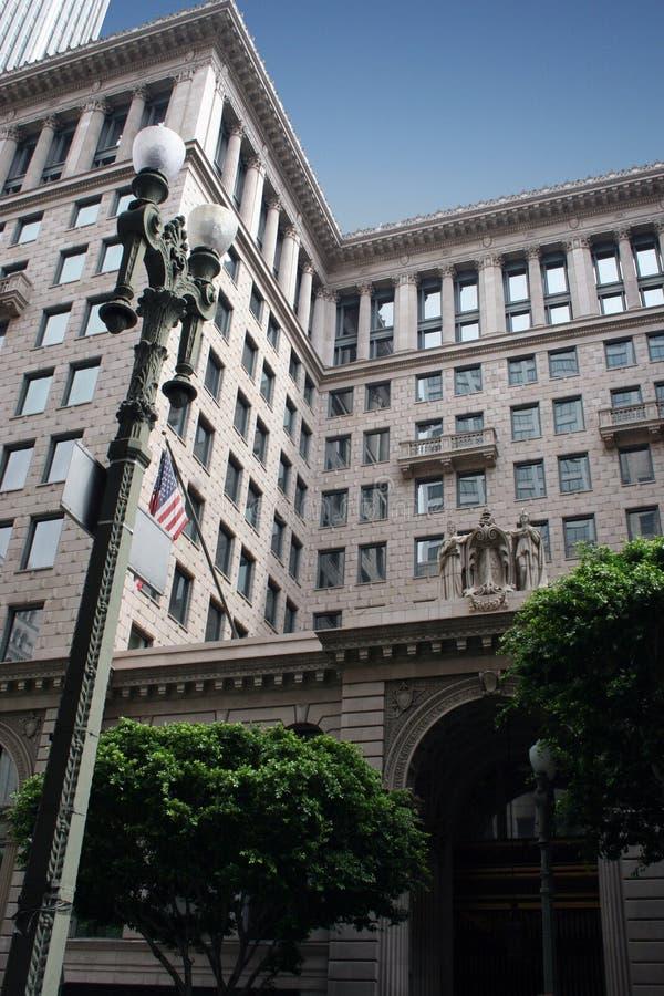 Costruzione storica a Los Angeles, California immagini stock libere da diritti