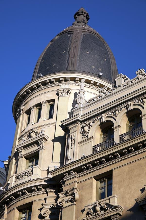 Costruzione storica a Madrid fotografia stock libera da diritti