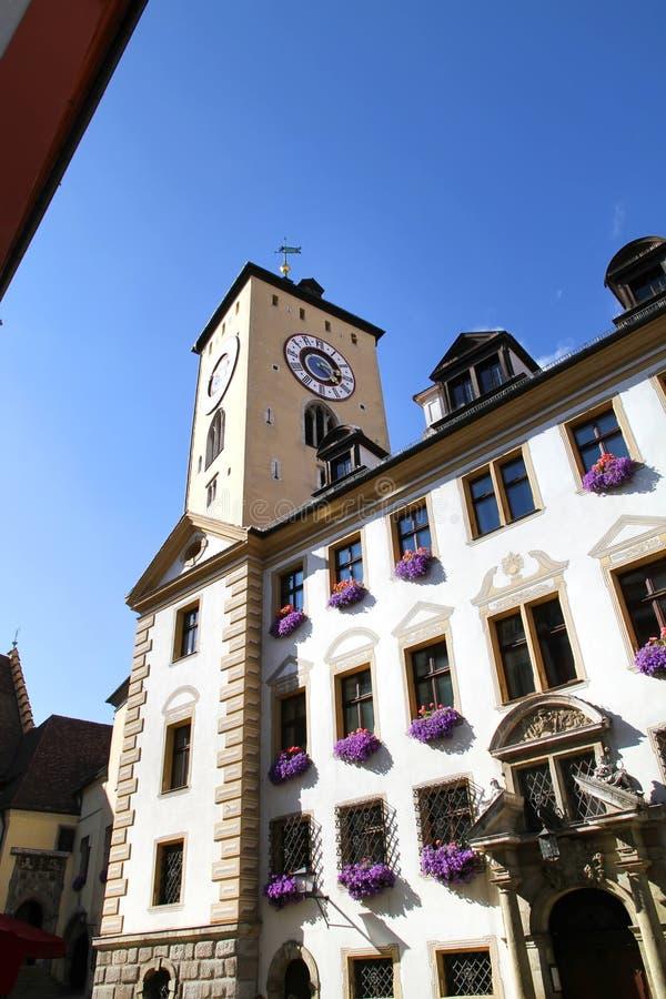 Costruzione storica a Regensburg immagine stock