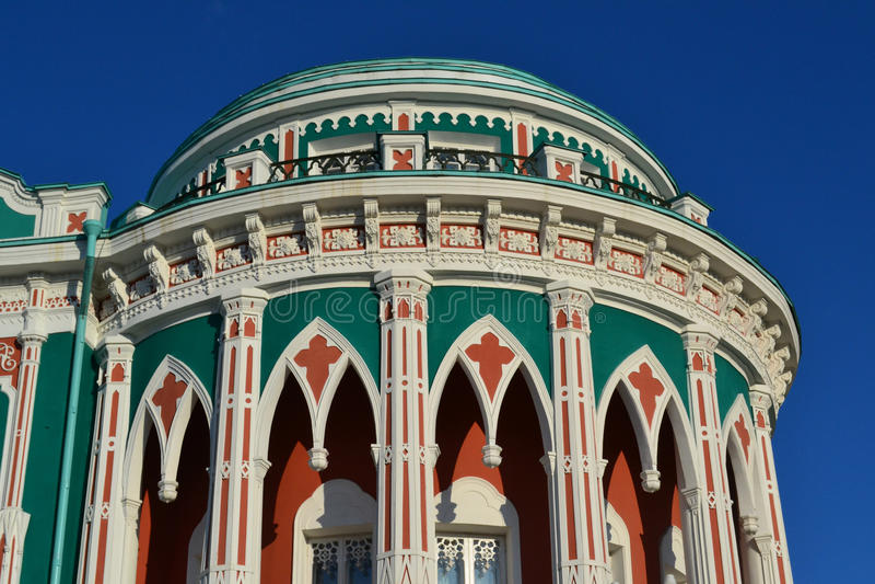 Costruzione storica a Yekaterinburg, Russia fotografia stock libera da diritti
