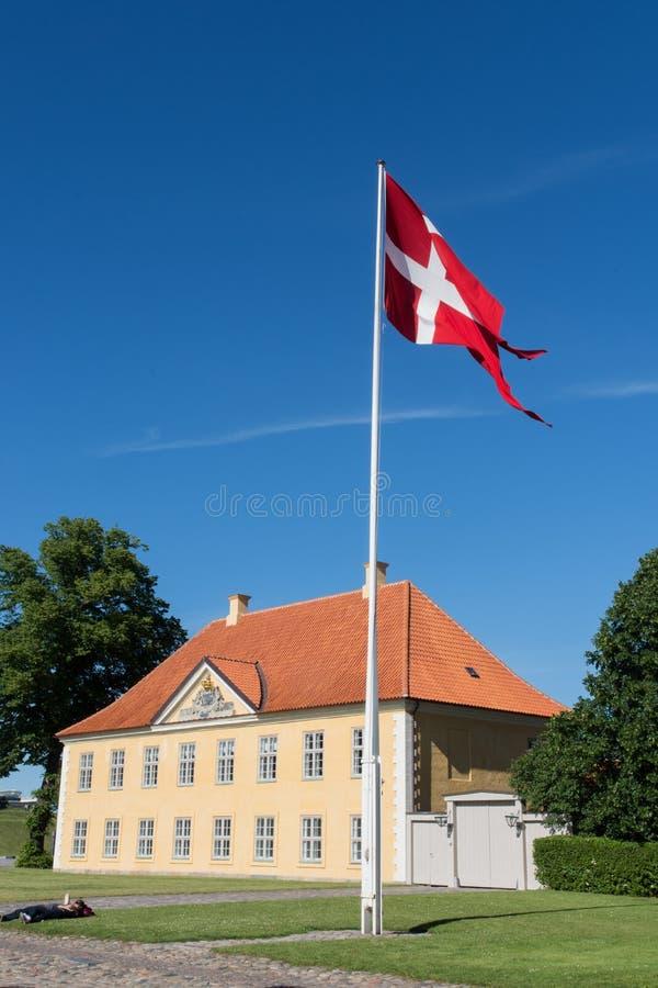 Costruzione ufficiale a Copenhaghen, luglio 2017 immagine stock