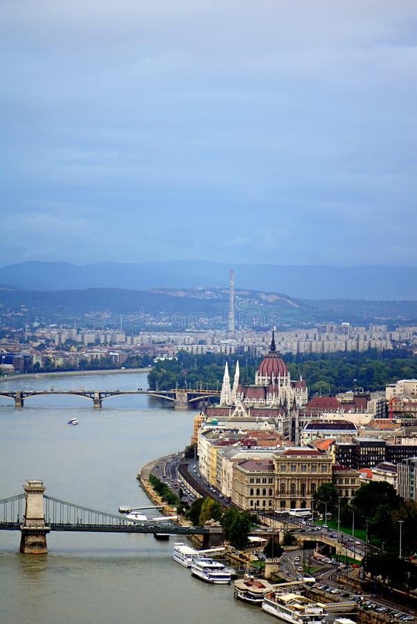 Costruzione ungherese del Parlamento fotografia stock libera da diritti