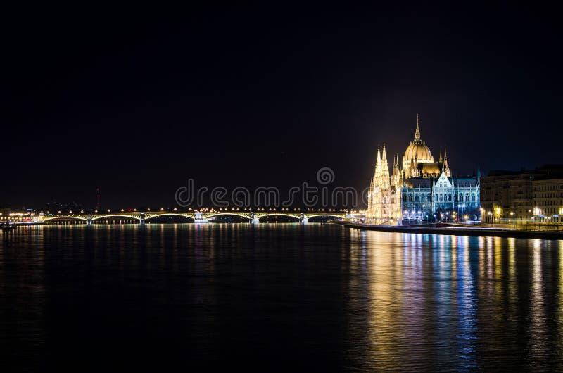 Costruzione ungherese del Parlamento, anche conosciuta come il Parlamento di Budapest una di più vecchie costruzioni legislative  fotografie stock libere da diritti