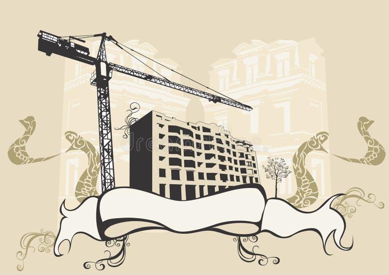 Costruzione urbana illustrazione di stock