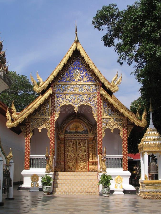 Costruzione in Wat Phrathat, Doi Suthep fotografia stock libera da diritti
