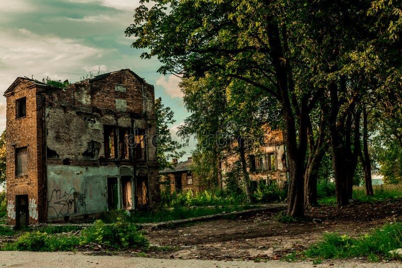 Costruzioni abbandonate a Tallinn Estonia fotografie stock libere da diritti