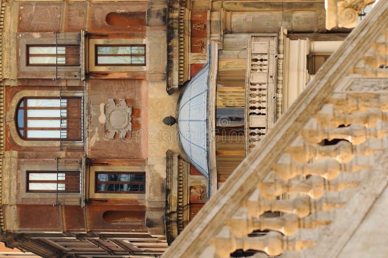 Costruzioni antiche a Roma, Italia immagine stock