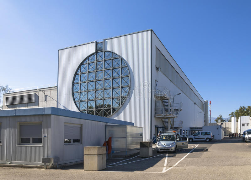 Costruzioni in CERN immagini stock libere da diritti