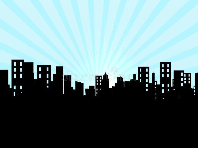 Costruzioni, città, paesaggio urbano royalty illustrazione gratis