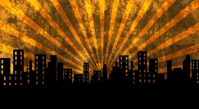 Costruzioni, città, paesaggio urbano illustrazione vettoriale