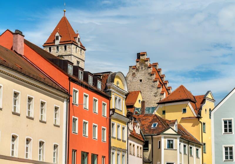 Costruzioni in Città Vecchia di Regensburg, Germania immagini stock