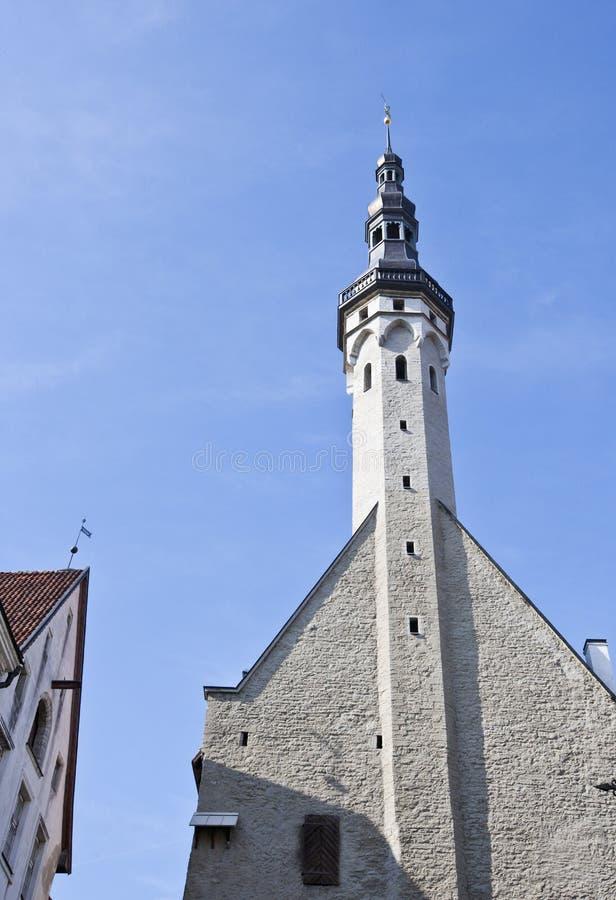 Costruzioni in Città Vecchia a Tallinn, Estonia immagine stock