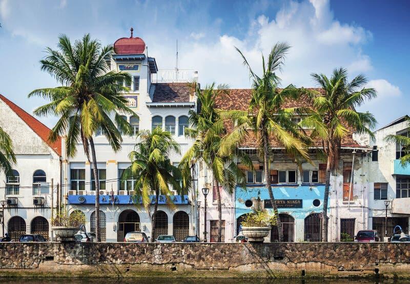 Costruzioni coloniali olandesi in vecchia città di Jakarta Indonesia fotografie stock libere da diritti