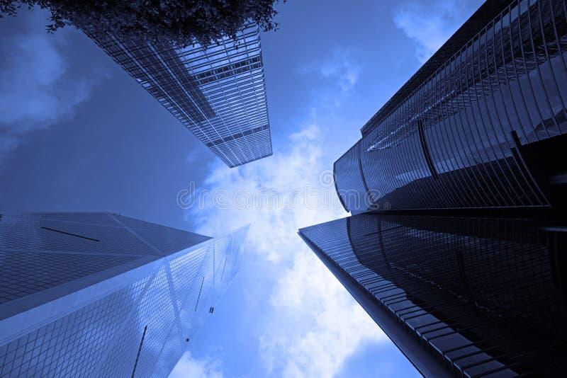 Costruzioni corporative in Hong Kong centrale immagine stock libera da diritti