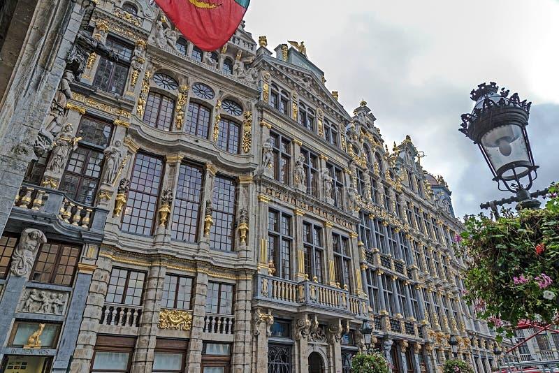 Costruzioni dal centro storico di Bruxelles, Belgio 2 immagini stock libere da diritti