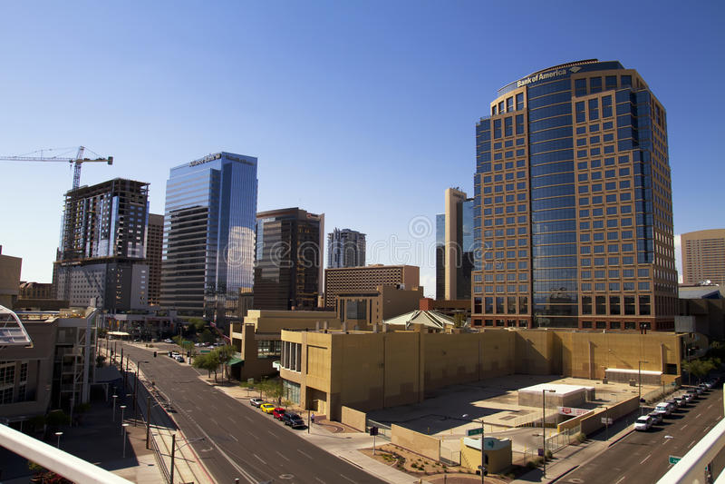 Costruzioni del centro di Phoenix Arizona fotografia stock libera da diritti